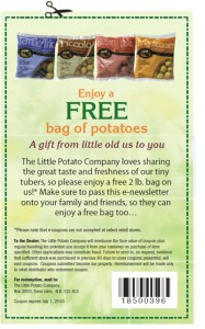 Free 2lb bag of potatoes from Little Potato Company - Expires July 1, 2010.