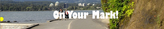 On Your Mark! Animated Banner