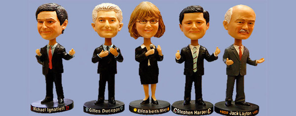 Canadian Party Leaders 2011 Bobbleheads