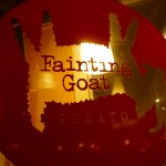 Fainting Goat Gelato signage
