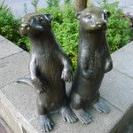Sea otter sculptures