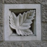Maple leaf building brick
