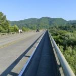 Walking along the Klamath River Bridge