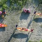 Retiring kayakers